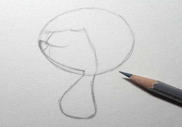 Как нарисовать ёжика из мультика поэтапно - шаг 2