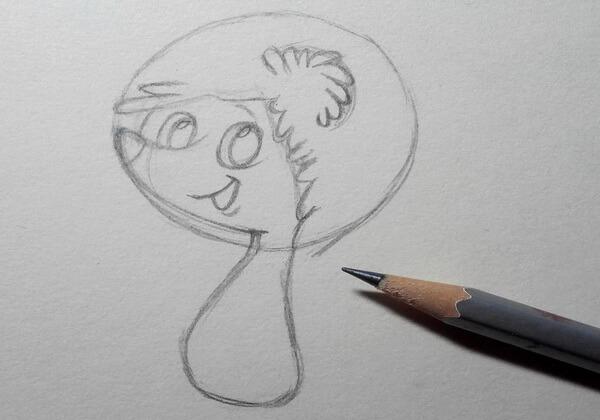 Как нарисовать ёжика из мультика поэтапно - шаг 3