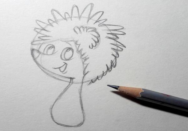 Как нарисовать ёжика из мультика поэтапно - шаг 4