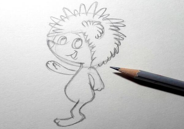 Как нарисовать ёжика из мультика поэтапно - шаг 5