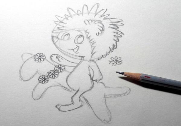 Как нарисовать ёжика из мультика поэтапно - шаг 6
