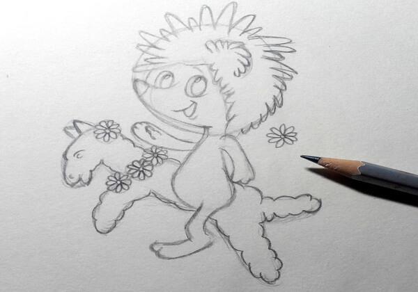 Как нарисовать ёжика из мультика поэтапно - шаг 7