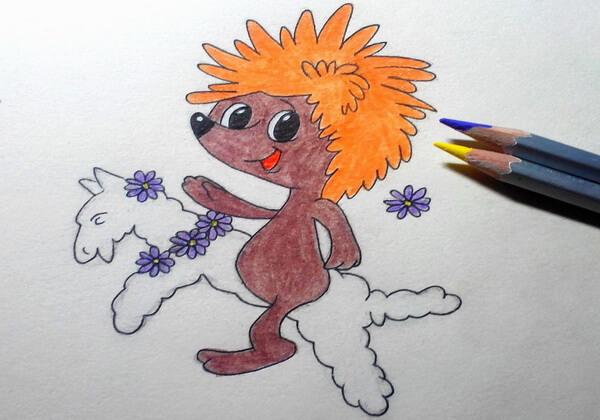 Как нарисовать ёжика из мультика поэтапно - шаг 10