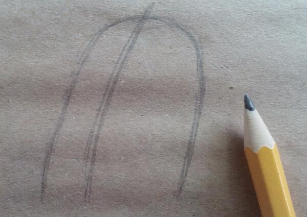 Как нарисовать кота Матроскина поэтапно - шаг 1