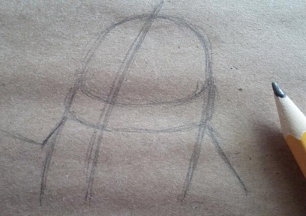 Как нарисовать кота Матроскина поэтапно - шаг 2