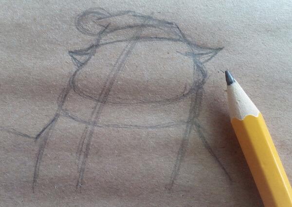Как нарисовать кота Матроскина поэтапно - шаг 3