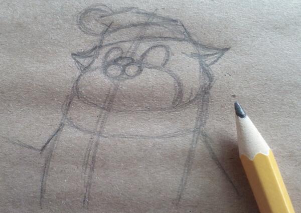Как нарисовать кота Матроскина поэтапно - шаг 4