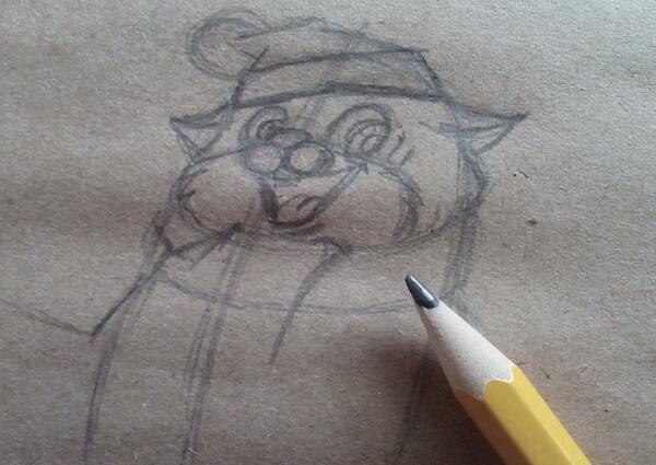 Как нарисовать кота Матроскина поэтапно - шаг 5