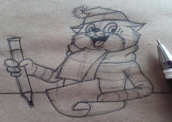 Как нарисовать кота Матроскина поэтапно - шаг 8