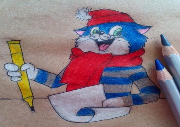 Как нарисовать кота Матроскина поэтапно - шаг 12