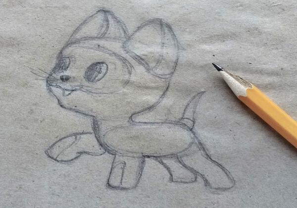 Как нарисовать котёнка Гав - шаг 6