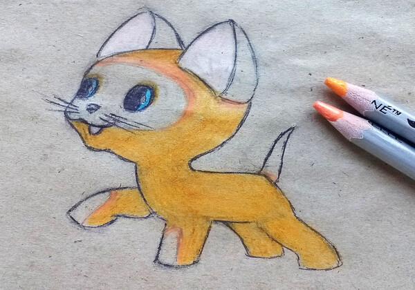 Как нарисовать котёнка Гав - шаг 9