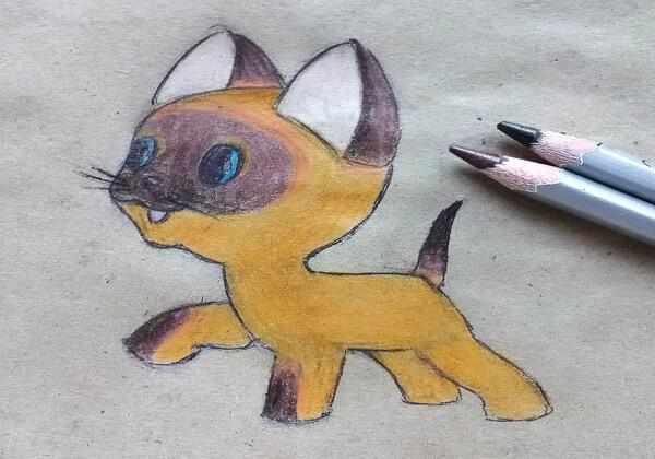 Как нарисовать котёнка Гав - шаг 10