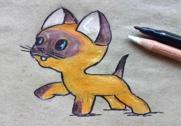 Как нарисовать котёнка Гав - шаг 11