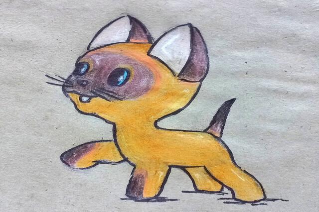 Рисунок котёнка Гав поэтапно - урок рисования карандашами для начинающих
