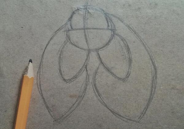 Как нарисовать летучую мышь поэтапно - шаг 3