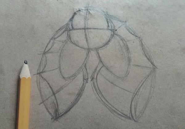 Как нарисовать летучую мышь поэтапно - шаг 4