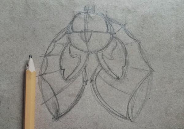 Как нарисовать летучую мышь поэтапно - шаг 5