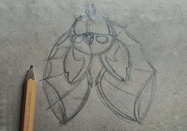 Как нарисовать летучую мышь поэтапно - шаг 6
