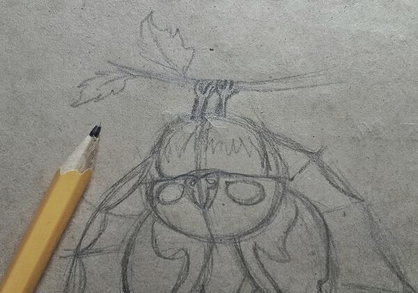 Как нарисовать летучую мышь поэтапно - шаг 7