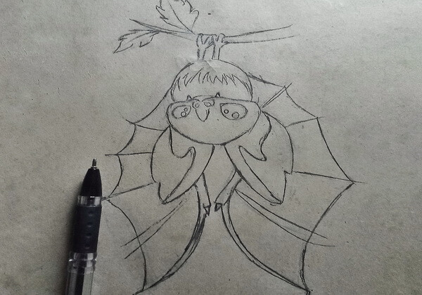 Как нарисовать летучую мышь поэтапно - шаг 8