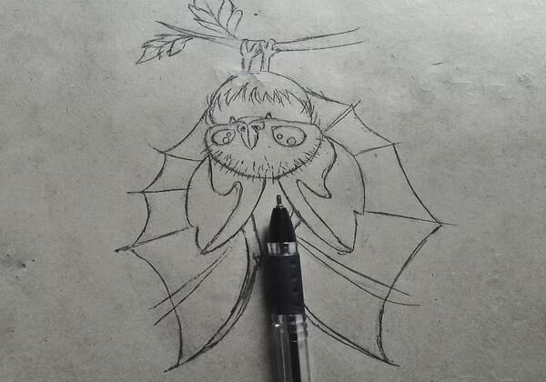 Как нарисовать летучую мышь поэтапно - шаг 9