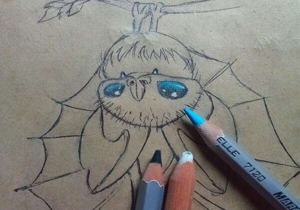 Как нарисовать летучую мышь поэтапно - шаг 10