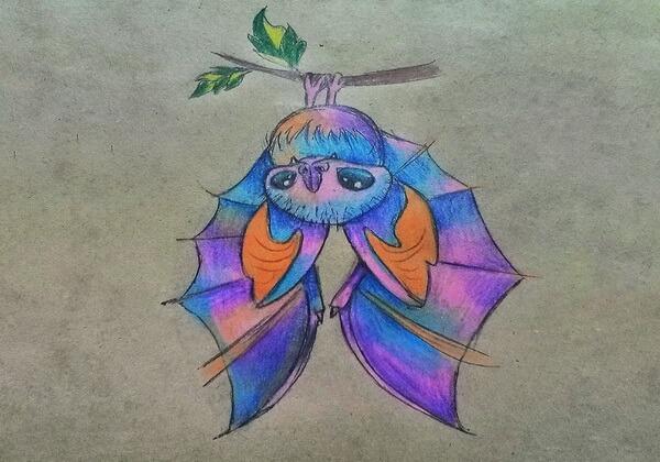Как нарисовать летучую мышь карандашом - поэтапный урок рисования к Хэллоуин