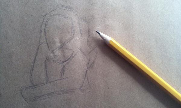 Как нарисовать льва Шрама поэтапно - шаг 1