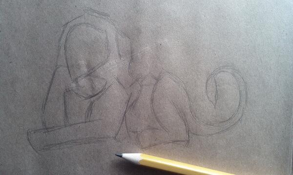 Как нарисовать льва Шрама поэтапно - шаг 2