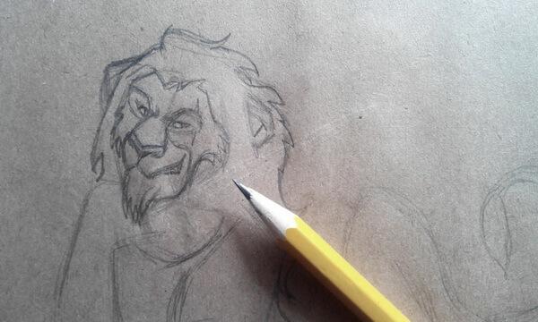 Как нарисовать льва Шрама поэтапно - шаг 4