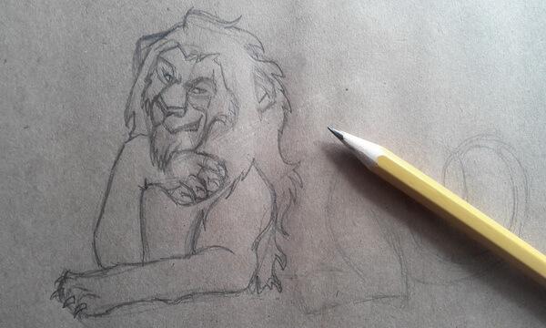 Как нарисовать льва Шрама поэтапно - шаг 5