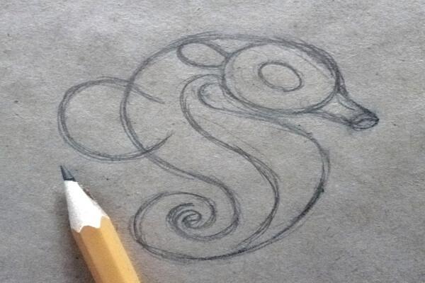 Как нарисовать морского конька поэтапно - шаг 4