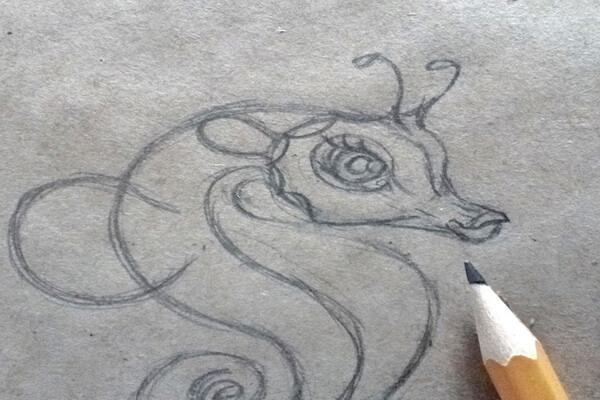 Как нарисовать морского конька поэтапно - шаг 6