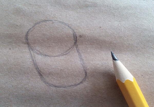 Как нарисовать попугая Кешу поэтапно - шаг 1