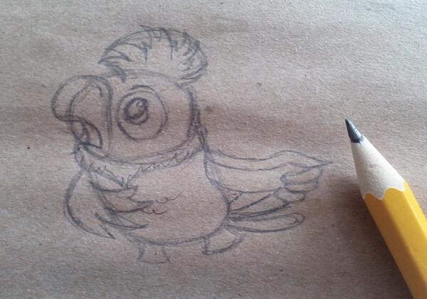 Как нарисовать попугая Кешу поэтапно - шаг 4