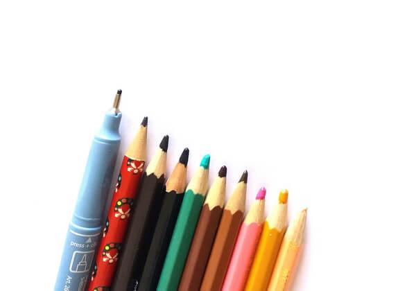 Инструменты для рисования красивого рисунка Русалочки