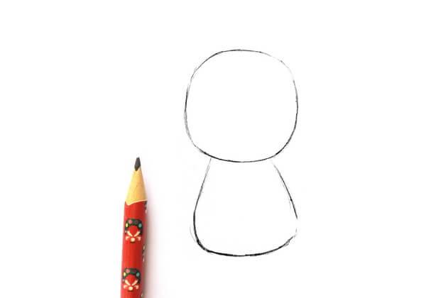Рисунок Русалочки карандашом поэтапно - шаг 1
