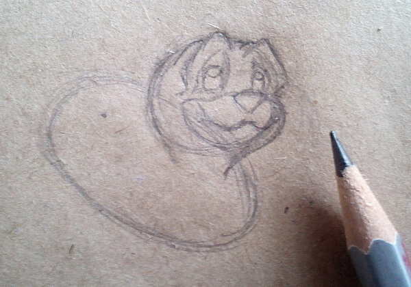 Как нарисовать собаку из мультика поэтапно - шаг 3