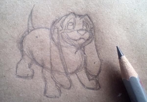 Как нарисовать собаку из мультика поэтапно - шаг 4