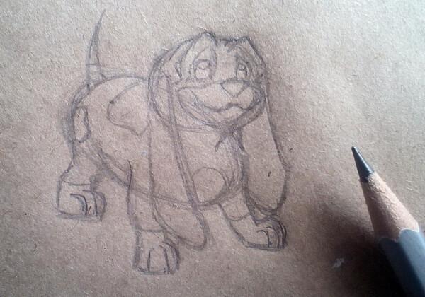 Как нарисовать собаку из мультика поэтапно - шаг 5