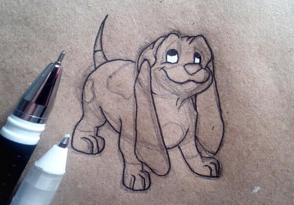 Как нарисовать собаку из мультика поэтапно - шаг 6