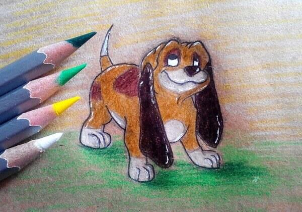 Как нарисовать собаку из мультика поэтапно - шаг 9