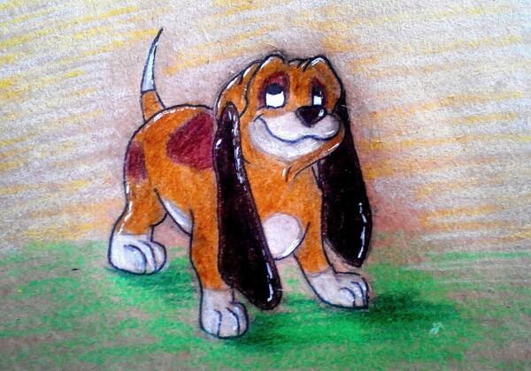 Как нарисовать пса - поэтапный урок рисования карандашом
