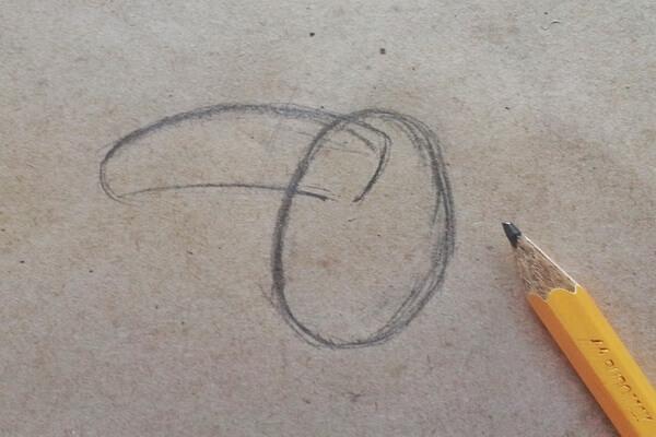 Как нарисовать тукана поэтапно - шаг 1