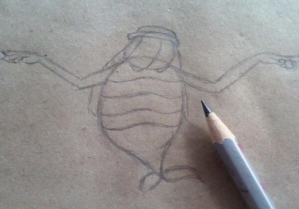 Как нарисовать Водяного поэтапно - шаг 4