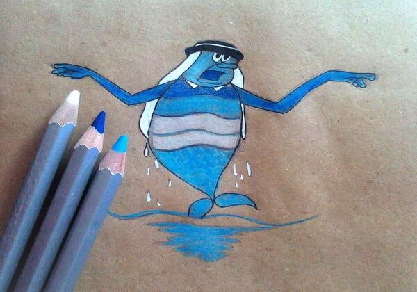 Как нарисовать Водяного поэтапно - шаг 8