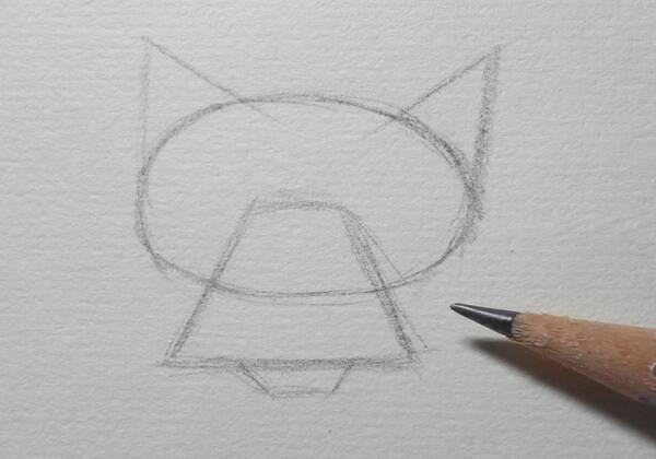 Поэтапный рисунок волка из «Жил-был пёс» - шаг 1