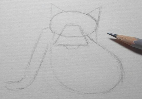 Поэтапный рисунок волка из «Жил-был пёс» - шаг 2