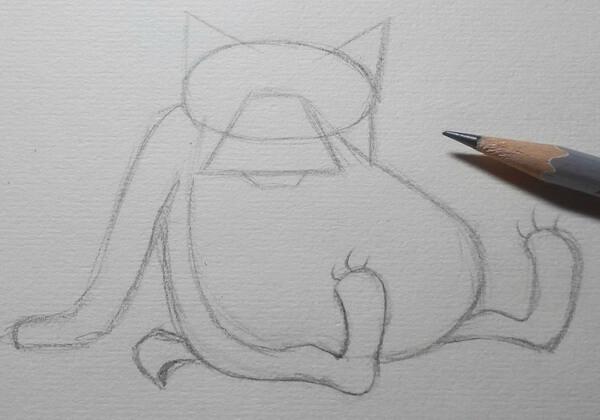 Поэтапный рисунок волка из «Жил-был пёс» - шаг 3